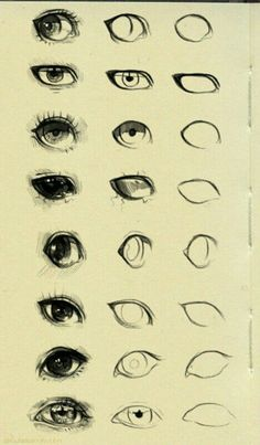64 ideas for eye drawing cartoon sketches Eye Drawing Tutorials, Drawing Techniques, Art Tutorials, Pencil Art Drawings, Art Drawings Sketches, Cute Drawings, Art Illustrations, Pencil Sketching, Cartoon Sketches