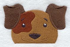 Peeking Dog, Embroidered Hand towel in several colored towels available by embroiderybybeverly on Etsy