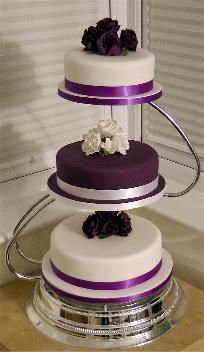 Purple Wedding Cakes | ... Cakes to Wedding Cakes and all other Cakes Cupcakes and Cupcake Towers
