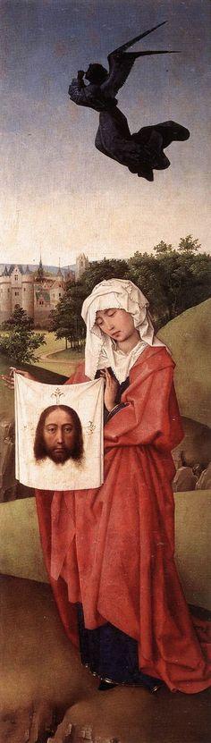 Crucifixion Triptych: right wing by Rogier van der Weyden #art