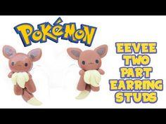 Pokémon Eevee Earring Studs polymer clay tutorial