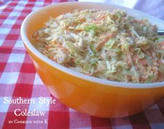 Southern Style Coleslaw & How to make the dressing to go on it! {Grannys Recipe}