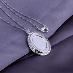 Silver Pendant|Fashion Silver Jewelry| Egg-shaped picture frame pendant | 3.8*2.3CM