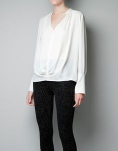 DRAPED BLOUSE - Woman - New this week - ZARA