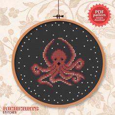 Octopus hug - PDF cross stitch pattern (3.00 USD) by Richearts