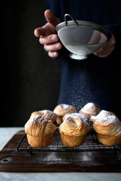 How to make cruffins (croissant + muffin) with a  pasta machine! Zero folding, no chilling in between, and utterly flaky shattering crusts!