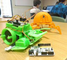 #Printbots #beetle #crab #arduino #freaduino #robots  #impresion3d #robot #3dprinting #robotica #bq #robotics #programación #programming #code #mirasierra #cuenca by geeky_team