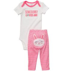 Carters 2Piece Set With Back Art  Girl12 Months
