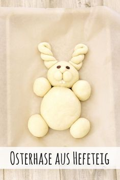 cute Easter bunny made of yeast dough – Fashion Kitchen - Ostern Cute Easter Bunny, Happy Easter, Easter Festival, Bread Shaping, Bread Art, Easter Dinner Recipes, Easter Eggs, Food Porn, Food And Drink