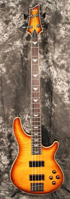 Schecter Guitar Research Omen Extreme-4 Electric Bass Guitar Vintage Sunburst