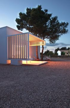 House 8 x 8 in Formentera, by Marià Castelló.   I like how the pergola blends so well with the house.