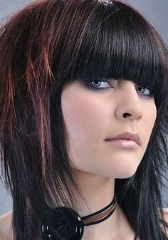 blunt fringe...with some shag layers