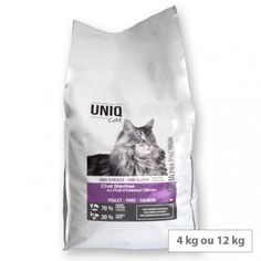 Croquettes chat stérilisés ou d'intérieur sans céréales Uniq Cat Ultra Premium, Croquettes Chat, Acide Aminé, Cats