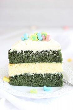 The Gold Lining Girl | Green Velvet Cheesecake Cake | http ...