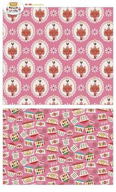 Vintage Kitchen fabric line from Jolijou by Andrea M