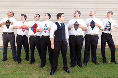 Groomsmen or superheros? Photo by Project: Life Photography