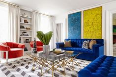 sofá, quadros, composé.
