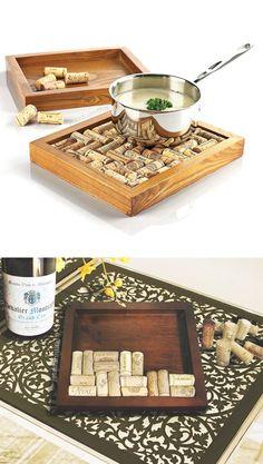 Wine cork trivet base - DIY your own! #product_design