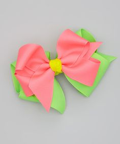 Picture Perfect Hair Bows Tutti Fruity & Green Double Bow Clip