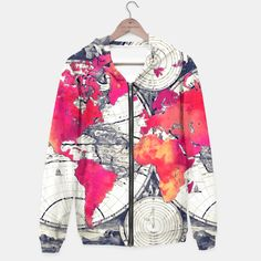 World map all over print full zip hoodie for women model h14 world map all over print full zip hoodie for women model h14 world maps pinterest women models gumiabroncs Choice Image