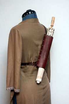 Steampunk Leather Parasol Back Holster by Versalla on Etsy