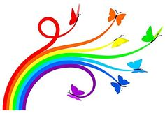 Wallmonkeys Rainbow Butterflies Peel and Stick Wall Decals (60 in W x 41 in H) Wallmonkeys Wall Decals http://www.amazon.com/dp/B004Q4NES6/ref=cm_sw_r_pi_dp_ZTLgwb1YP09XC