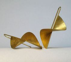 Earrings   Violetta Elisa Seliger. Sterling silver, with fine gold coating