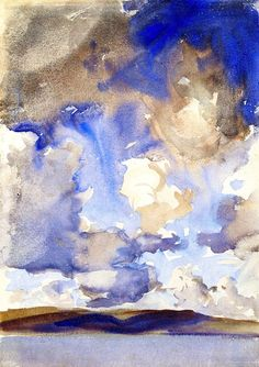 Clouds (also known as A Sky) John Singer Sargent - circa 1896