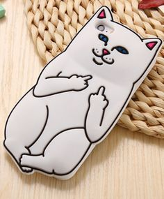 """Cute Sillcon Cartoon Cat Case For iPhone 6 6S / 6s Plus / 5 5s """" FREE SHIPPING """" ProductDescription [Color]: Black ,White ,Rose ,Pink[Highlight]:3D+ Cart"""