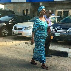 Elderly chic woman in Yaba, Lagos this afternoon. #Lagos #style