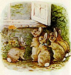 "Windy Poplars Room,  Beatrix Potter ""The Tale of The Flopsy Bunnies"""