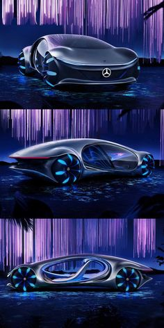 Mercedes-Benz Has Revolutionary EV Tech That Shames Tesla. The tech behind the Mercedes AVTR Concept could enter production one day. Futuristic Cars, Futuristic Design, Avatar Movie, Future Transportation, Benz Car, Amazing Cars, Exotic Cars, Concept Cars, Luxury Cars