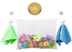 Bath Toy Organizer. these are great to have with all the little toys that fill the tub!
