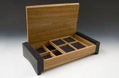 Camber Jewelry Box 2 by Douglas W. Jones and Kim Kulow-Jones (Wood Jewelry Box) | Artful Home
