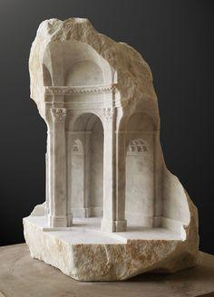 Galería - Arte y Arquitectura: Espacios miniaturas tallados en piedra y mármol - 91
