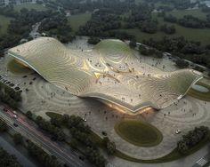 Exhibition Center of Otog | Kuan Wang