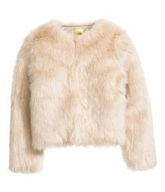 Faux-fur-Jacke | Naturweiß | Damen | H&M DE