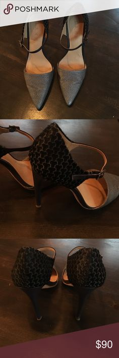 LAMB heels. Toe leather is extremely soft heel part is fur design. Worn only once for one hour inside on carpet! They are absolutely amazing. L.A.M.B. Shoes Heels