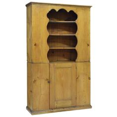 This charming New England Colonial pine pewter display cupboard was built in the late c. Not only is it attractive, but it is a great historic. Country Cupboard, China Cabinet Display, Barn Wood Projects, Primitive Gatherings, Joinery, New England, Colonial, Pewter, Tall Cabinet Storage