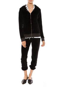 Monrow black zip Hoodie Sweatshirt XS #Monrow #Hoodie