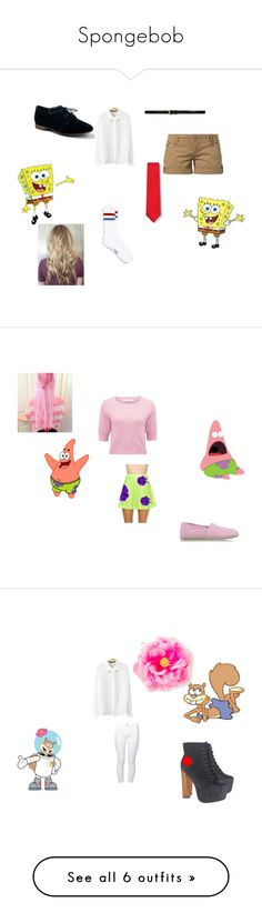 """""""Spongebob"""" by xxcasparxrosexx ❤ liked on Polyvore featuring Fresh Made, Topman, Yves Saint Laurent, Breckelle's, Forever New, Nasty Gal, TOMS, Jeffrey Campbell, Brooklyn Supply Co. and art"""