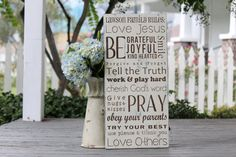 Custom Christian Family Rules Personalized by SweetSignsOfLife