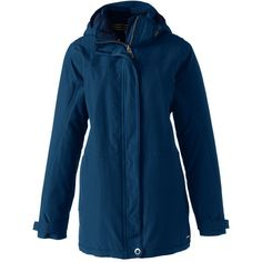 Lands' End Women's Plus Petite Size Parka - Squall (11.265 RUB) ❤ liked on Polyvore featuring plus size women's fashion, plus size clothing, plus size outerwear, plus size coats, blue, plus size hooded coat, waterproof parka, weatherproof coats, petite parka coat and petite plus size coats
