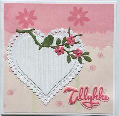 Hjerte kort, Handmade card