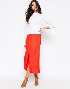 af44abdb63a41 Image 1 of River Island Split Front Skirt Asos Online Shopping