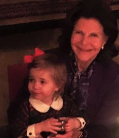 """NewMyRoyals:  December 23, 2015-Princess Madeleine shared a photo on Facebook of her mother Queen Silvia with her daughter Princess Leonore and wrote, """"Happy Birthday Mamma! Thank you for being a wonderful mom and an amazing grandma!"""""""