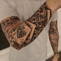 Grab your hot tattoo designs. Get access to thousands of tattoo designs and tattoo photos Badass Tattoos, Body Art Tattoos, New Tattoos, Tattoos For Guys, Tattoos For Women, Grace Tattoos, Best Tattoos For Men, Poker Tattoos, Tattoo Girls