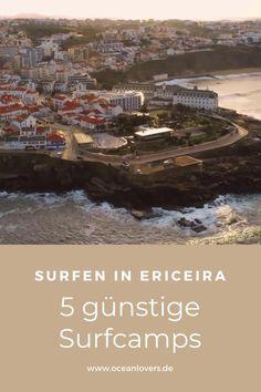 finde die 5 günstigsten Surfcamps in Portugal auf Oceanlovers.de #oceanloverstravel Ericeira Portugal, Surfer, Best Practice, Images Gif, City Photo, Travel, Laminate Flooring, Holiday Destinations, Destinations