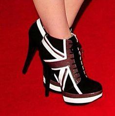 Union Jack heels