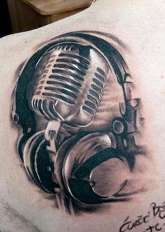old style microphone tattoo art 50 39 s mic ft rose and skull by vicki death on deviantart. Black Bedroom Furniture Sets. Home Design Ideas